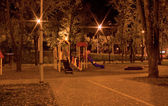 Child's Playground at Night — ストック写真