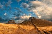 Strada per la vetta della montagna — Foto Stock