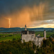 Stock Photo: Landscape with Neuschwanstein castle