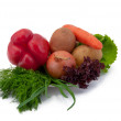 Stock Photo: Vegetables on plate