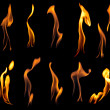 Stock Photo: Fire flames collection