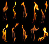 Fire flames collection — Stock Photo