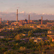 Panorama of the big old factory — Stock Photo