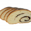 Slice poppy seed roll — Stockfoto