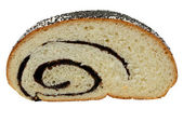 Cut poppy seed roll — Stock Photo