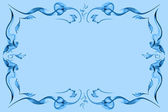 Blue abstract color frame — Foto de Stock