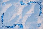 Textuur van de sneeuw met frame — Stockfoto