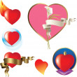 Royalty-Free Stock Vector Image: Heart set