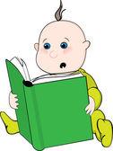 Reading baby — Stock Vector