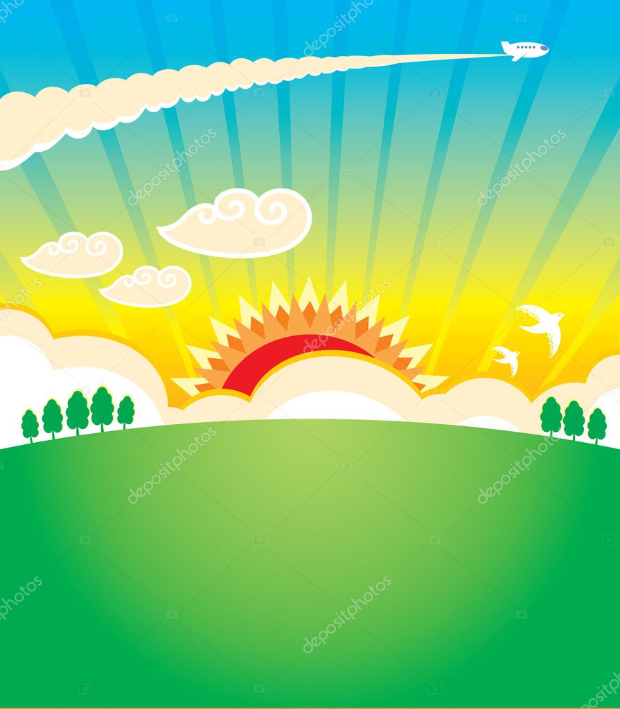 Sunset  — Stock Vector #9923330