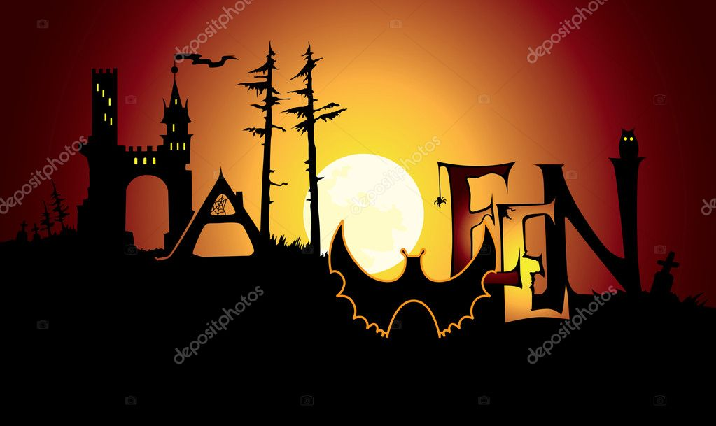 Halloween background and title — Stock Vector #9923347