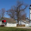 White lighthouse in Port Huron, USA — Stock Photo