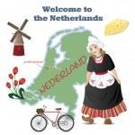 Bem-vindo à Holanda — Vetor de Stock  #10651195