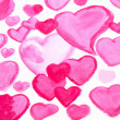 Watercolor hand painting red heart — Stock Photo