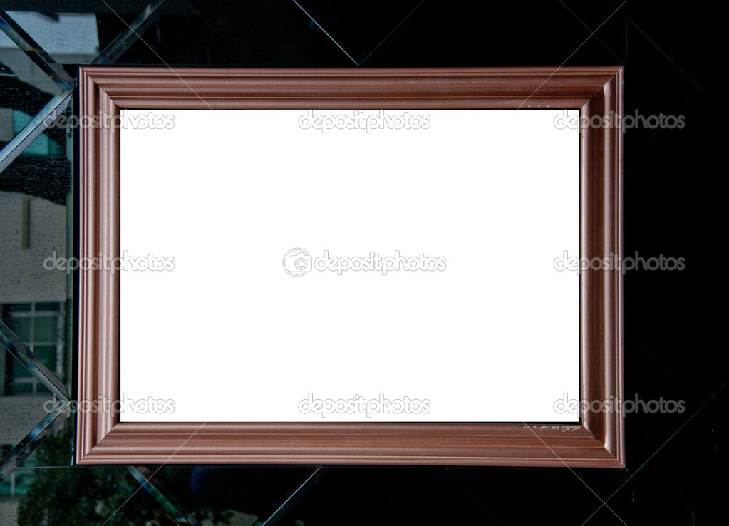 Old  wood cover with dry leaf photo frame — Stock Photo #8792735