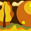 Autumn layer background — Stock Vector #8871332