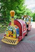 поезд ребенка в парке — Стоковое фото