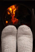 Dry the feet of fire — Stock Photo