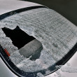 Stock Photo: Broken car heated rear window