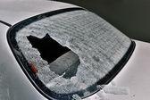 Broken car heated rear window — Stock Photo