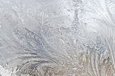 Winter frosted glass — Stock Photo