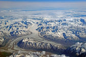 Glacial Peaks from Above — Stock Photo