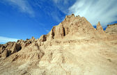 High Clouds over the Badlands — Стоковое фото