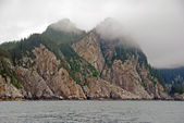 Ocean Monoliths in the Fog — Stock Photo