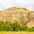 Stock Photo: Badlands Hill on cloudy day