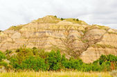 Badlands Hill on a cloudy day — Stock Photo