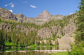Spires over an Alpine Lake — Stock Photo
