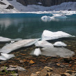 Stock Photo: Ice in Mountain Lake