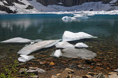 Ice in a Mountain Lake — Stock Photo
