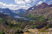 Bergtal von den Gipfeln — Stockfoto