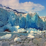 Blue Ice in the Sun — Stock Photo