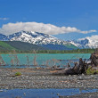 Glacial lake in the Mountains — Foto Stock