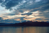 Sunset in the inside passage — Stock Photo