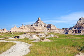 Summer skies in the Badlands — Stock Photo