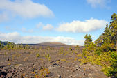 Volcanic Cone and its lava flow — Stock Photo