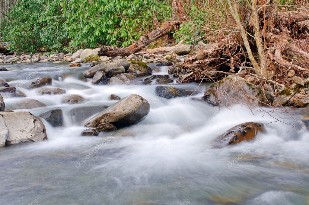 Cabin Creek in the Smoky Mountains in North Carolina — Stock Photo #9571560