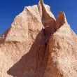 Stock Photo: Pinnacle in Badlands