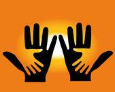 Two hands — Stock Vector
