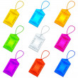Color tags with ropes, set — Stock Photo #10148691