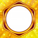 Golden frame on gold background — Stock Photo #10337855