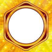 Golden frame on gold background — Stock Photo