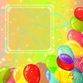 Vakantie achtergrond met ballonnen — Stockvector