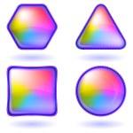 Icons buttons rainbow, set, round — Stock Photo