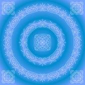Abstrakte Muster-Rahmen, blau — Stockfoto