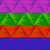 Triángulos abstractos inconsútiles, motley — Vector de stock