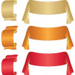 Stock Photo: Banners ribbons, set